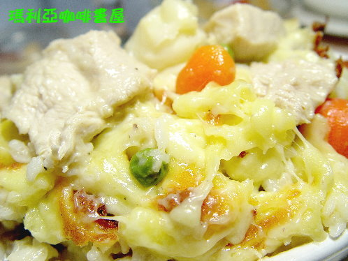 奶油雞肉焗烤飯 (Chicken Butter Spaghetti Rice)